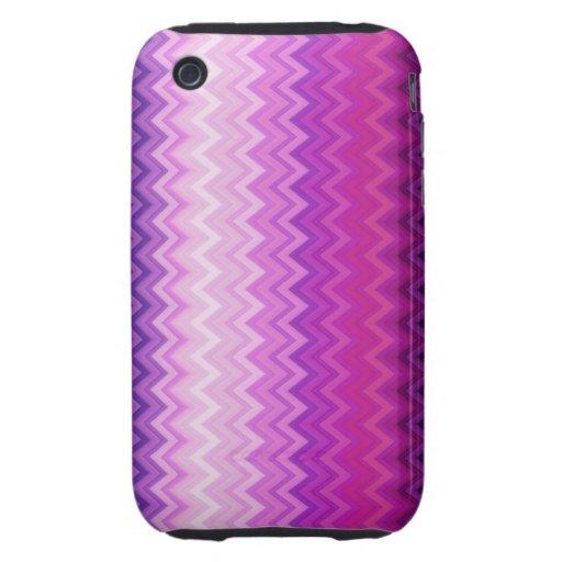 Chevron vertical púrpura iPhone 3 tough coberturas