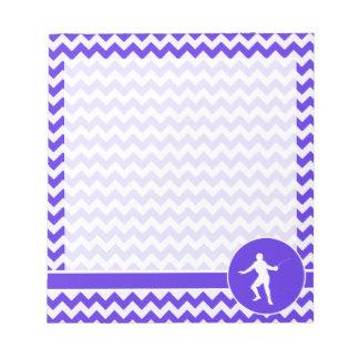 Chevron violeta azul; Cercado Blocs De Notas