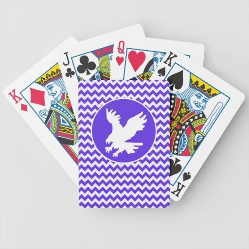 Chevron violeta azul; Eagle Baraja De Cartas