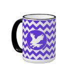 Chevron violeta azul; Eagle Taza