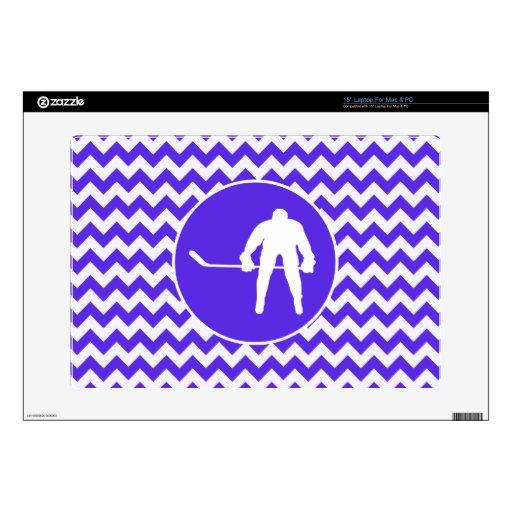 Chevron violeta azul; Hockey Skins Para Portátil