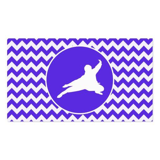 Chevron violeta azul; Ninja Tarjetas De Visita