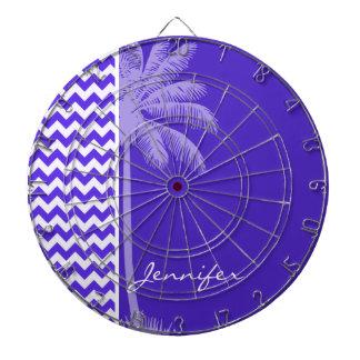 Chevron violeta azul; Palma tropical
