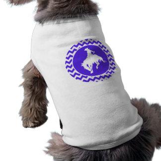 Chevron violeta azul; Rodeo Camiseta De Perrito