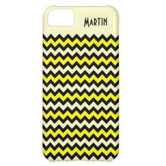 Chevron Wasp Yellow Black iPhone 5 Case