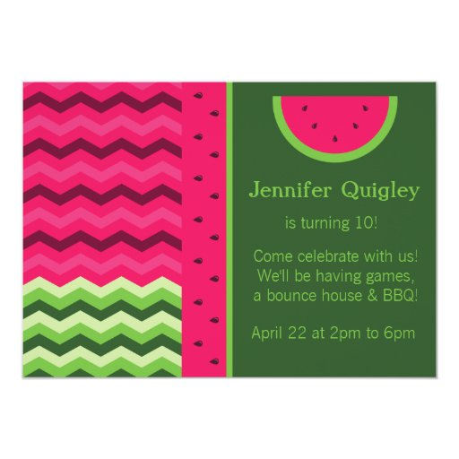 Watermelon Birthday Invitations as awesome invitations layout
