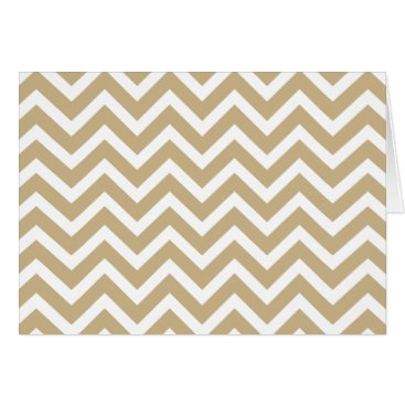 Aztec Themed Chevron Wavy Stripes in Christmas Gold & White Card
