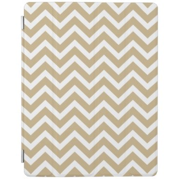 Aqua Chevron Wavy Stripes in Christmas Gold & White iPad Smart Cover