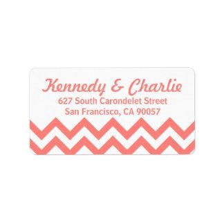 Chevron Wedding Address Labels
