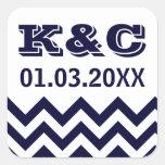Chevron Wedding Favor Stickers