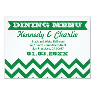 Chevron Wedding Menu Cards