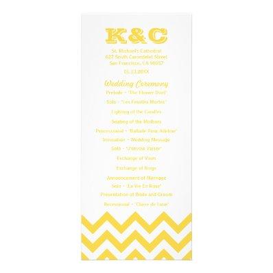 Chevron Wedding Programs Custom Rack Card