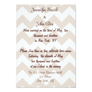 Chevron Wedding Reception Invitations