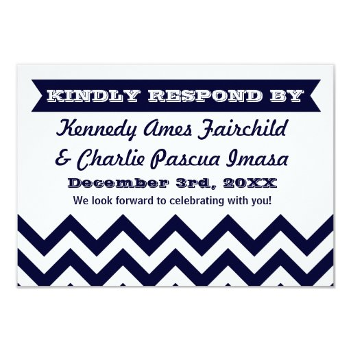 Chevron Wedding RSVP Cards Personalized Announcements