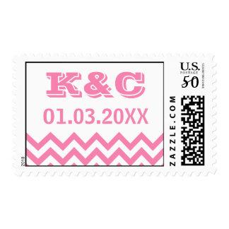Chevron Wedding Stamps