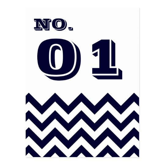 Chevron Wedding Table Number Cards