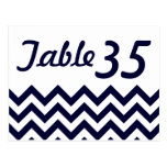 Chevron Wedding Table Number Cards Post Card