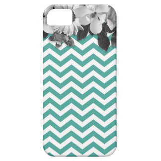 Chevron with flowers marries iPhone SE/5/5s case