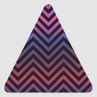 Chevron with Pink Purple and Black Triangle Sticker