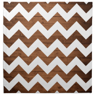 Chevron Wood Cloth Napkin