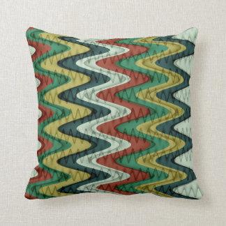 Chevron y modelo ondulado de las rayas almohada