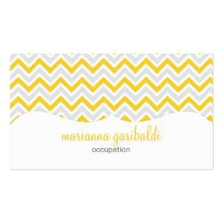 Chevron Yellow and Modern Profissional Business Cards