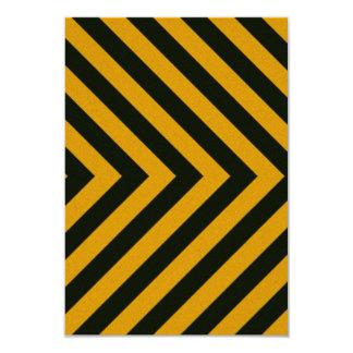 Chevron Yellow Black Hazard Stripes Card