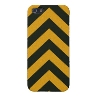 Chevron Yellow Black Hazard Stripes iPhone 5/5S Cases