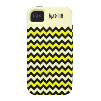 Chevron Yellow Black Wasp Pattern iPhone 4/4S Cover