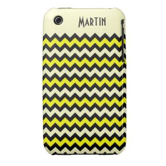 Chevron Yellow Black Wasp Pattern iPhone 3 Case