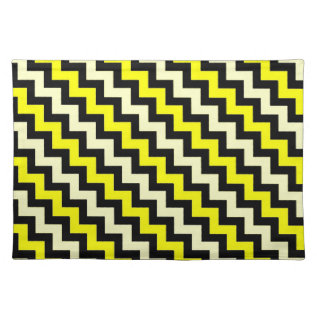 Chevron Yellow Black Wasp Pattern Cloth Placemat at Zazzle