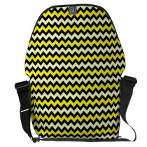 Chevron Yellow Black Wasp Pattern Courier Bag at Zazzle
