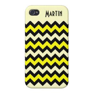 Chevron Yellow Black Wasp Pattern iPhone 4/4S Case