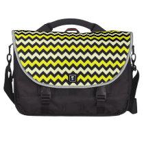 Chevron Yellow Black Wasp Pattern Laptop Messenger Bag at Zazzle
