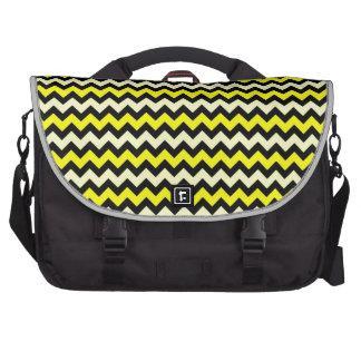Chevron Yellow Black Wasp Pattern Laptop Messenger Bag
