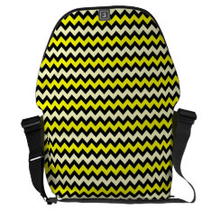 Chevron Yellow Black Wasp Pattern Messenger Bag at Zazzle