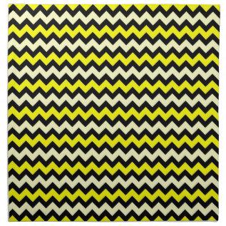 Chevron Yellow Black Wasp Pattern Napkin at Zazzle