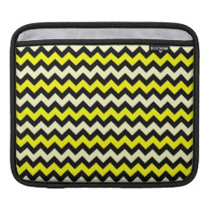 Chevron Yellow Black Wasp Pattern Sleeve For Ipads at Zazzle