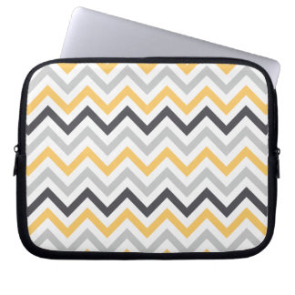 Chevron Yellow Water Resistant Laptop Sleeve