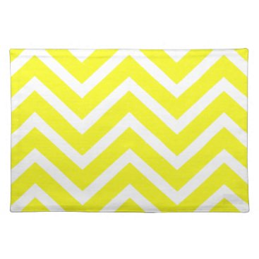 USA Themed Chevron  yellow white cool Placemat