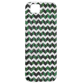 Chevron Zebra Black and Green Print iPhone SE/5/5s Case