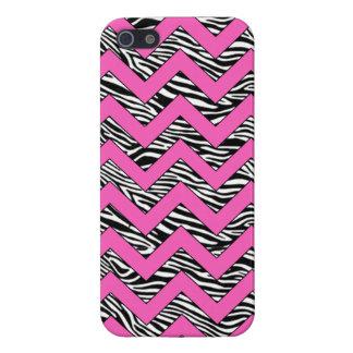 chevron zebra print zigzag iphone 5 case hot pink