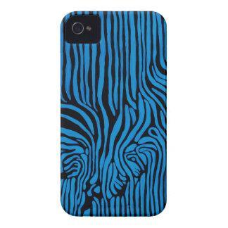 Chevron Zebra turquoise Case-Mate iPhone 4 Case