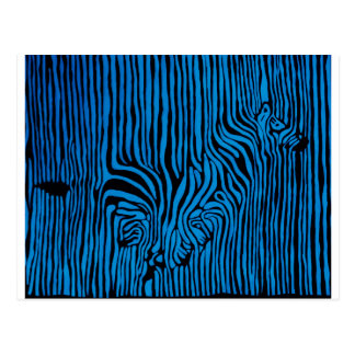 Chevron Zebra turquoise Postcard