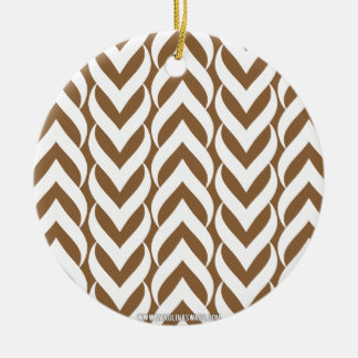 Chevron Zig Zag Brown Ornaments