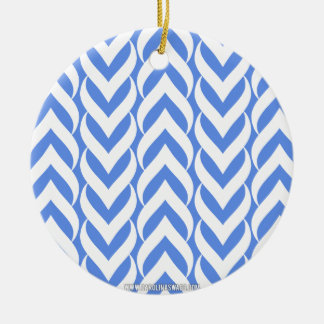 Chevron Zig Zag Carolina Blue Christmas Tree Ornaments