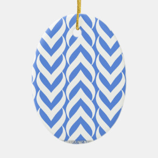 Chevron Zig Zag Carolina Blue Christmas Tree Ornament