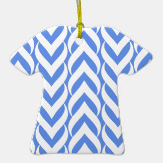 Chevron Zig Zag Carolina Blue Christmas Ornament