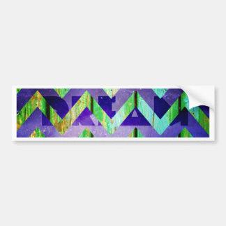 chevron,zig zag,colorful,pattern,fun,clear happy,g car bumper sticker