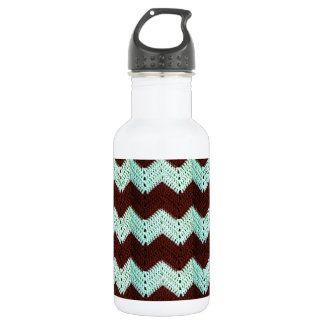 Chevron Zig Zag Crochet Water Bottle